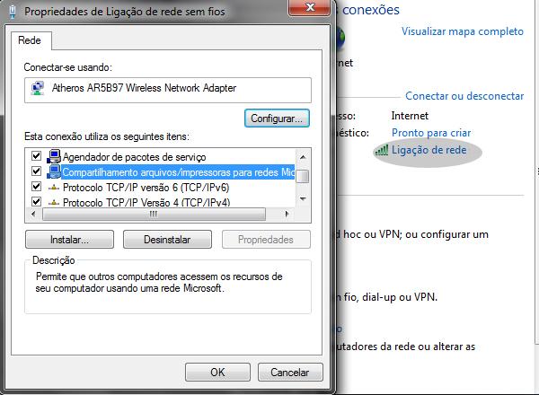 Ligação de rede - Como compartilhar arquivos em rede