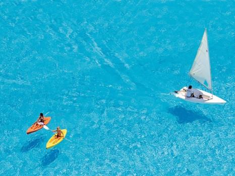 maior piscina do mundo - barcos e caiaques