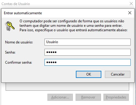 Entrar automaticamente no Windows