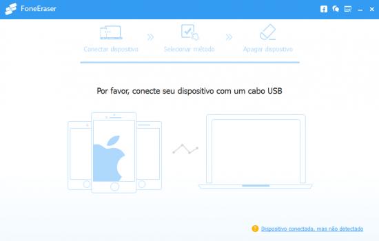 Como limpar o Iphone: Aiseesoft FoneEraser - Passo 1