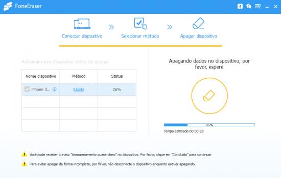 Como limpar o Iphone: Aiseesoft FoneEraser - Passo 4
