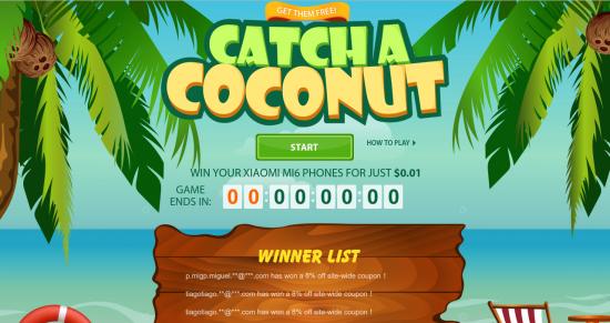 Catcha coconut